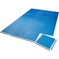 Gym mats - interlocking set of 24 - gym flooring, foam mats, workout mats - blue