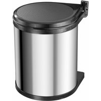 Cupboard Bin Compact-Box Size M 15 L Stainless Steel 3555-101 - Silver - Hailo