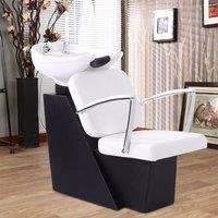 Hair Washing Backwash Basin Chair Shampoo Salon Bed