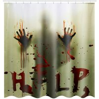 Halloween Bloody Hands Scary Shower Curtain 180 * 180CM
