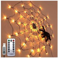 Betterlifegb - Halloween LED Decoration Spider Canvas Lights Inner and Outdoor Atmosphere Display Festival Accessories Ghost Remote Control Lights
