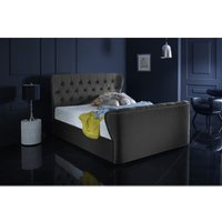 Furniturebox Uk - Hamilton Asphalt Malia Double Bed Frame