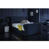 Furniturebox Uk - Hamilton Blue Malia Double Bed Frame