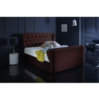 Furniturebox Uk - Hamilton Burgundy Malia Double Bed Frame