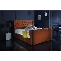 Furniturebox Uk - Hamilton Burnt Orange Malia Double Bed Frame