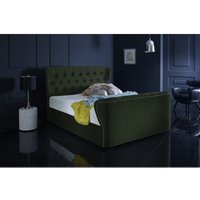 Furniturebox Uk - Hamilton Forest Green Malia Double Bed Frame