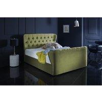 Furniturebox Uk - Hamilton Olive Green Malia Double Bed Frame