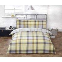 Hamilton Ochre Double Duvet Cover Set Bedding