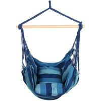 Maerex - Hammock Chair Swing Chair Hanging Air Swing Cotton Seat blue