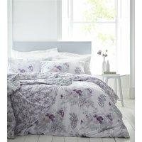 Hampston Floral 100% Cotton 200 Thread Count Double Duvet Cover Set Pink