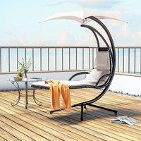 Livingandhome - Hanging chair - garden swing seat, garden swing chair, swing chair - beige