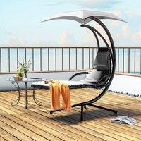 Hanging chair - garden swing seat, garden swing chair, swing chair - grey
