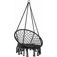 Hanging chair Jane - garden swing seat, hanging egg chair, garden swing chair - black
