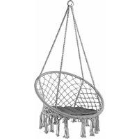 Hanging chair Jane - garden swing seat, hanging egg chair, garden swing chair - grey - TECTAKE