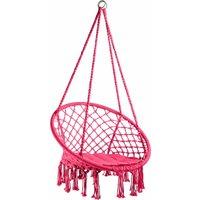Hanging chair Jane - garden swing seat, hanging egg chair, garden swing chair - pink - TECTAKE
