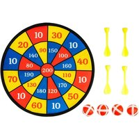 Hanging Dartboard for Kids, Indoor or Outdoor, Includes 4 Balls, 4 Darts for Dartboard with Farm Dart Board