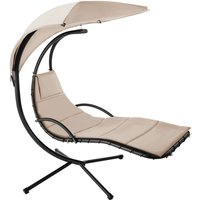 Garden swing chair Maja - swing chair, hanging chair, hanging garden chair - beige - TECTAKE