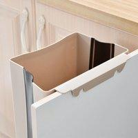 Hanging trash can for kitchen or bathroom with trash bag holder for kitchen, cabinet and door - 9 l