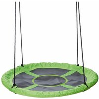 Kids Swing Seat 110cm Green and Black - Green - Happy People