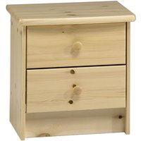 HARTFORD - Solid Wood 2 Drawer / Bedside Table / Nightstand / Storage Chest - Pine - WATSONS