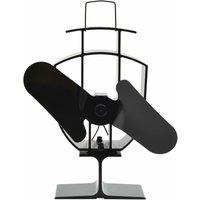Heat Powered Stove Fan 2 Blades Black - VIDAXL