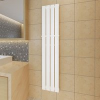 Heating Panel Towel Rack 311mm Heating Panel White 1500mm - VIDAXL