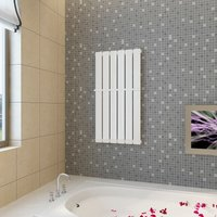 Heating Panel Towel Rack 465mm + Heating Panel White 465 mm x 900 mm - VIDAXL
