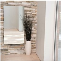 Vetro Frame Electrical 1000X500mm Glass Towel Warmer 700W White - Heating Style