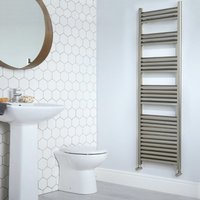 Heatwave Eton Designer Heated Towel Rail 1600mm H x 300mm W - Brushed Aluminium