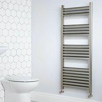 Heatwave Eton Designer Heated Towel Rail 1800mm H x 300mm W - Brushed Aluminium