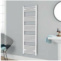 Independent Straight Towel Rail 1600mm H x 500mm W - White - Heatwave