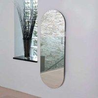 Vetro Electric Glass Radiator Soap 1380mm H x 500mm W - Mirror - Heatwave