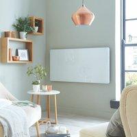 Heatwave Vetro Frame Electric Glass Horizontal Radiator 600mm H x 600mm W - White