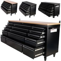 Heavy Duty 55 Work Bench Tool Box Chest 10 Drawers Tool Cabinet Garage Storage Unit