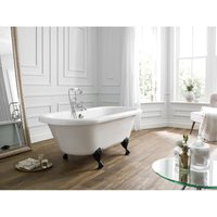 Frontline Bathrooms - Hebden Traditional 1700 x 750mm Freestanding Roll Top Bath - White