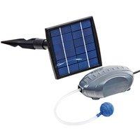 Set Pompa d'Aria e Pannello Solare 120L/h - Nero - Heissner