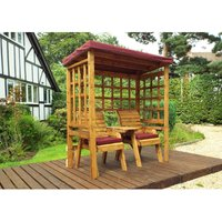 Henley Twin Seat Arbour Burgundy - Fully Assembled - CHARLES TAYLOR