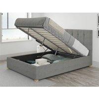 Hepburn Ottoman Upholstered Bed, Eire Linen, Grey - Ottoman Bed Size Superking (180x200) - ASPIRE