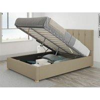 Aspire - Hepburn Ottoman Upholstered Bed, Eire Linen, Natural - Ottoman Bed Size Superking (180x200)