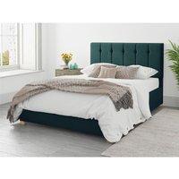 Hepburn Ottoman Upholstered Bed, Plush Velvet, Emerald - Ottoman Bed Size Single (to fit mattress size 90x190)