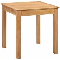 Hallowood - Hereford Oak Small Fixed Top Square Dining Table in Light Oak Finish | Solid Wooden Kitchen Dinner Table | Top 75cm x 75cm