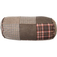 Heritage Bolster Cushion,Polyester/Acrylic Mix, 100% Hollow Polyester Filler,Patchwork Brown