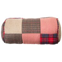 Big Living - Heritage Bolster Cushion,Polyester/Acrylic Mix, 100% Hollow Polyester Filler,Patchwork Red
