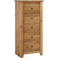 Hesta 5 Drawer Chest Pine - NETFURNITURE
