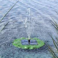 HI Solar Floating Fountain Pump Lotus Leaf - Green