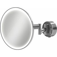 Eclipse LED Magnifying Mirror with Rocker Switch - Round - HIB