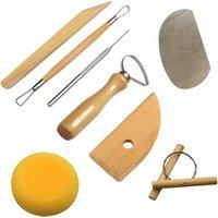 Soekavia - High Quality and Useful 8 Piece RSET-POT1 Complete Pottery Tool Set