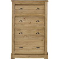 Highland Home FB Assembled Antique Waxed Pine 4 Drawer Chest - CORE PRODUCTS