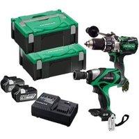 Hitachi Kc18Dpl2/Jb 18V Combi & I/Wrench Kit
