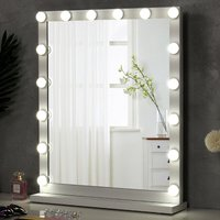 Hollywood Dimmable LED Light Makeup Mirror Tabletop Mirrors, 52x62CM